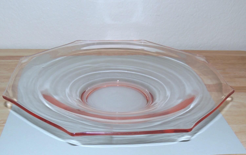 Pink Elegant Glass Console Bowl