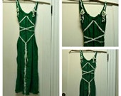 Forest Woodland Dress Green Corset Ren Faire Elven St. Patrick's Fairy Custom Mori Girl Celtic Womens Cotton Gauze
