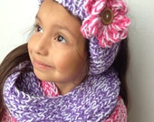 Knit Scarf Set with Headband Ear Warmer