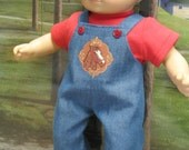 Bib-Overall with Horse Outfit for Bitty Baby Doll