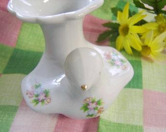 Vintage Small Bird Bud  Vase