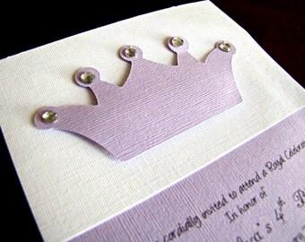 Princess Party Invitations, Princess Crown Party Invitation, Princess Invitation, Girl Birthday Party Invitation, Princess Party, Set of 12