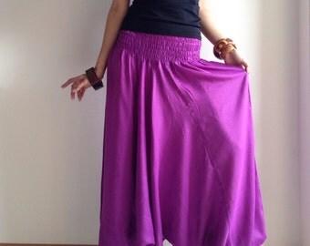 3 in 1 Harem Pant in Pink Violet
