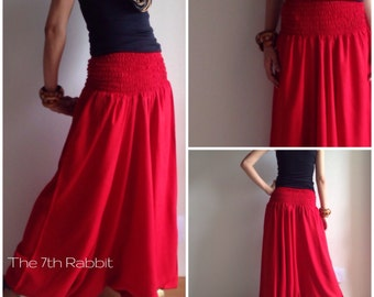 3 in 1 Harem Pant in Hot Red