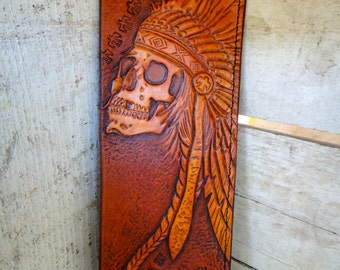 Custom Leather Hand Tooled Wallet