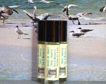 BEACH BE CRAZY Perfume Oil Sand, Jasmine, Sea & Mandarin - Handmade Natural Cologne Oil