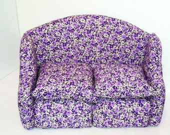 American Girl, 18 inch dolls furniture, sofa, couch, living room, purple