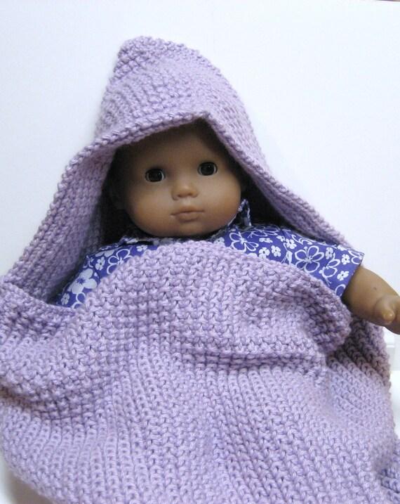 Hooded Baby Cocoon in Lilac Photo Prop Pod Sleep Sack Sleeping Bag Infant Baby Hand Made