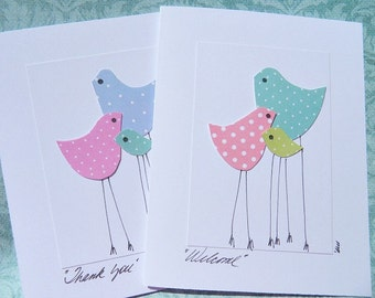 New Baby Cards - Baby Gift Thank You Cards - Congratulations on New Baby - Baby Shower Card - Baby Chick Cards - New Baby Cards - MDB