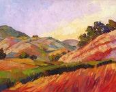 California Wine Country Impressionism Landscape Ltd Edition Print Giclee Erin Hanson