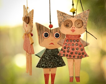 Lola---------my sweet doll-------- Ceramic Marionette---Holiday gift--Gift under 50 USD Valentine's Day