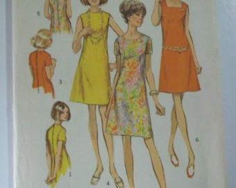 Dress flared neckline variations Simplicity 8882 size 18 bust 40 Misses UNCUT sewing pattern