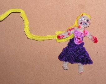 Fuzzy Figures -  Zombie Rapunzel