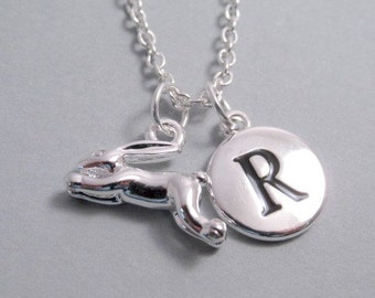 Rabbit Running Charm Silver Plated Charm jewelry Supplies