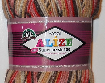 Alize Superwash Sock Yarn, 100g/459 yd, #2699