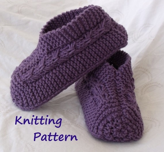 Slipper Socks Knitting Pattern Easy : Easy to Knit Bow Slippers Tutorial Knitting Pattern for