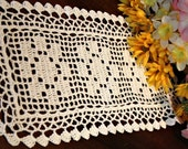 Three flower mini doily