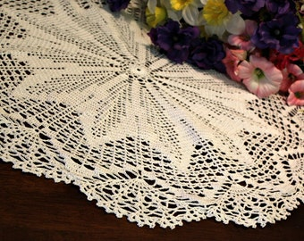 Beautiful White  Crochet topper 2