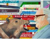 "Original ""Where's My Javelina?"" Wes Anderson Royal Tenenbaums Art Print Poster"