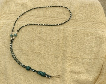 Braided Kangaroo Leather Lanyard Necklace Style ld Lanyard/ Whistle Lanyard - Made To Order