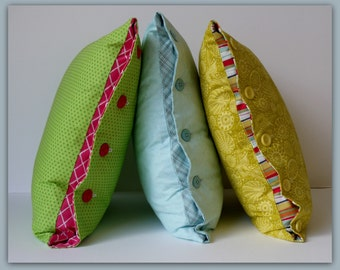 Button Cushion Cover Sewing Pattern