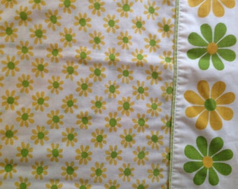 Crazy Daisies Standard Pillowcase - Reclaimed Bed Linens