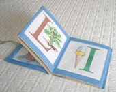 Quiet Book Cloth Personalized Illustrated Alphabet Book Handmade Baby Keepsake