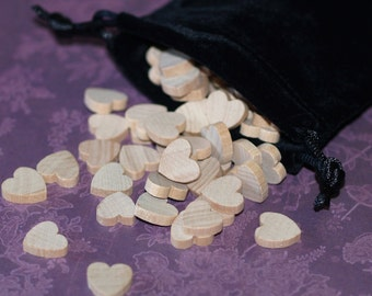 "100 Mini Hearts ... 1/2"" (13mm) Wood Hearts Wedding Decor Table Scatter Confetti Natural Unfinished DIY Wedding Valentine Rustic Gifts"