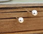 classic sterling silver studs earrings, simple everyday wear, TINY DOT EARRINGS, small ball sterling silver stud earrings