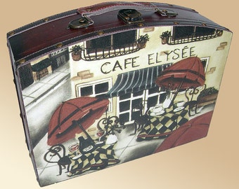 Briefcase Style Carry Case With Canvas Print Side Covers