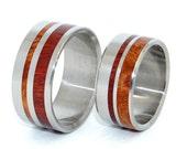 wedding rings, titanium rings, wood rings, mens rings, Titanium Wedding Bands, Eco-Friendly Rings, Wedding Rings - STRONGER TOGETHER