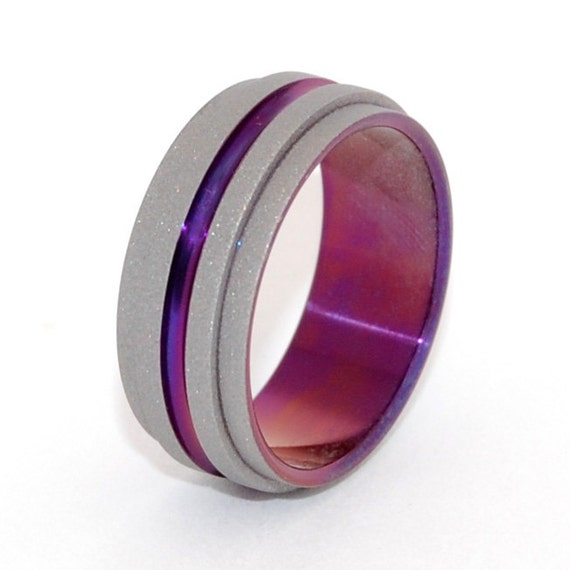 wedding rings, titanium rings, wood rings, men's ring, women's ring, unique ring, engagement, commitment - ONE STEP FORWARD