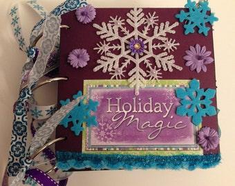 Holiday Magic Christmas Premade Scrapbook Album