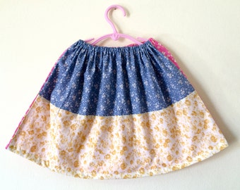 One of a kind Patchwork skirt in size 4-6 years