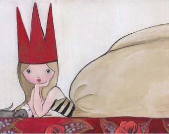 He and She Italian Greyhound and His Girl Art Print