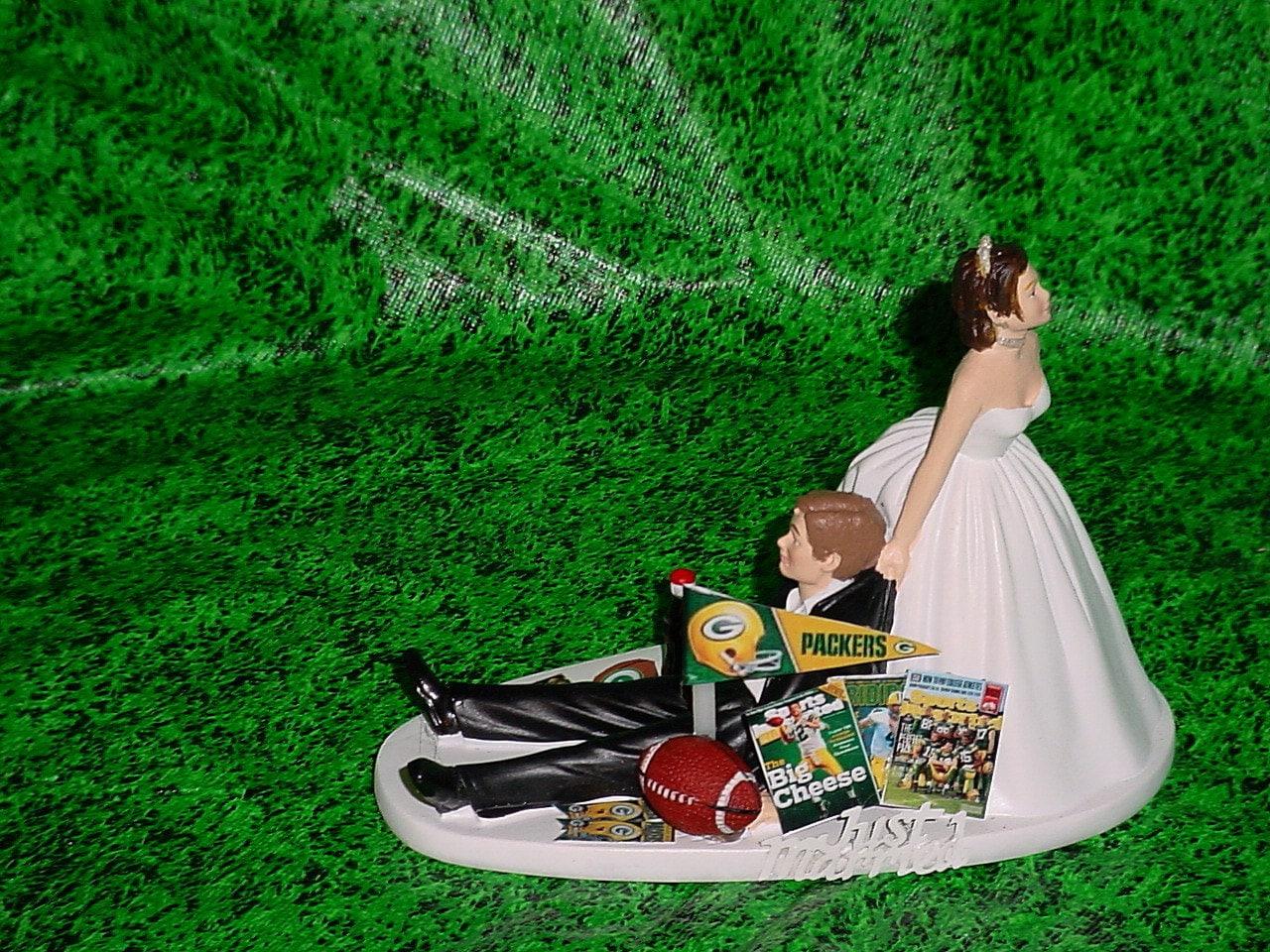 Green bay packers football fan sports strapless dress bride for Green bay packers wedding dress