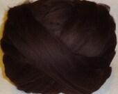 Wool Roving - Merino Roving, Bitter Chocolate Merino Wool Roving - Bitter Chocolate - 8oz