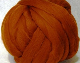 Merino Wool Roving, Wool Roving, Merino Roving, Felting Wool, Spinning Wool, Ashland Bay Fibers - Nutmeg -  8oz