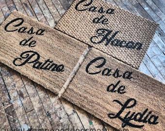 Personalized Casa de --- Spanish home  doormat