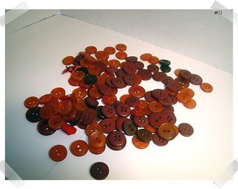 Red Buttons Lot /Assorted Shades/ 2 & 4 Holes/  Craft Supplies/(#11)*