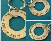 Hand Stamped Dog Lovers Keychain