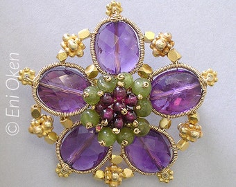 Gold and Purple Flower PDF tutorial