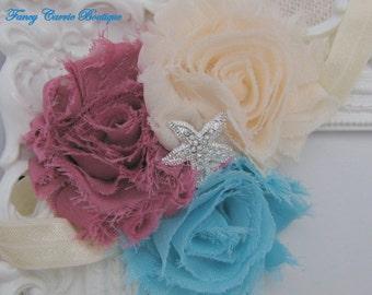 Baby Flower Headband,3 flower Headband,Baby Headband,Flower Headband,Newborn Headband,Infant Headband,Baby Girl Headband,Ashton Headband