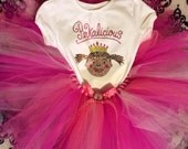 Pinkalicious pink tutu set-- girls Nb-5t -- tutu with rhinestone tee or body suit