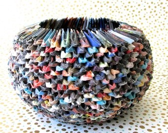 eco-friendly paper origami bowl~ small multi color