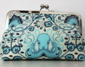 Octopus Clutch, Destination or Beach Wedding, Handmade for Bridesmaids, wedding clutch