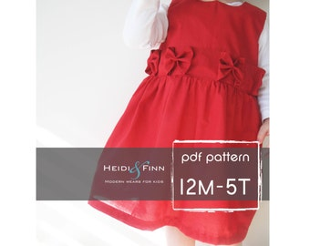Perfect Holiday Dress pattern and tutorial 12M-5T ebook PDF
