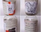 Decoration - Home Decor - OOAK Mason Jar Candle Holder or Vase