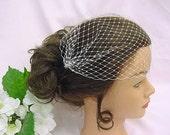 French Net Veil for DIY Bride, Bridal Veil, Bridal Hair Accessories, Birdcage Bandeau Veil, Vintage Inspired Veil