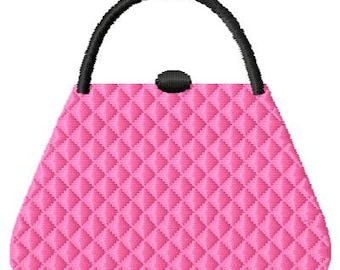 Pink Purse Machine Embroidery Design Mini